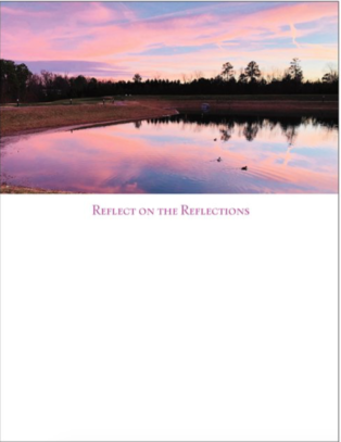 Reflect on Reflections Magnetic Notepad